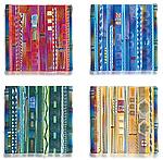 Wall Panel Color Series Set by Mark Ditzler (Art Glass Wall Sculpture)