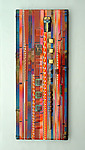 Sunset Coral Wall Panel by Mark Ditzler (Art Glass Wall Sculpture)