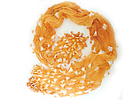Large Epidermis Forest Scarf in Orange by Yuh  Okano (Polyester Scarf)