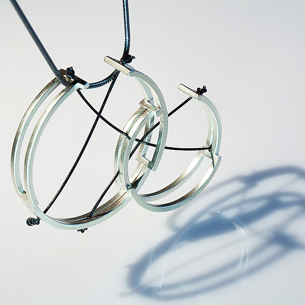 Box Hoop Necklace