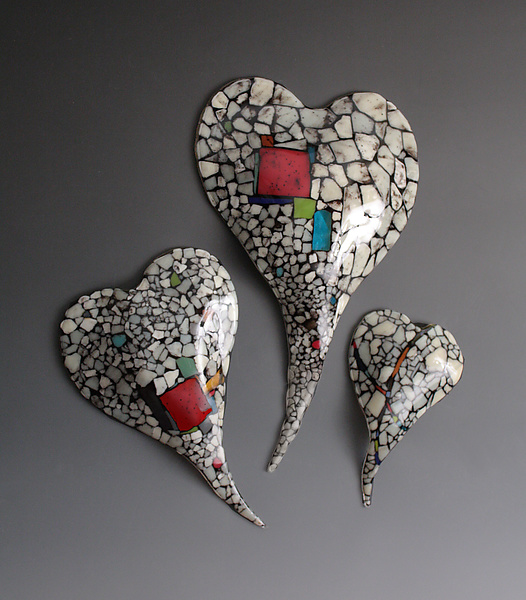 Riverbed Series Glass Hearts