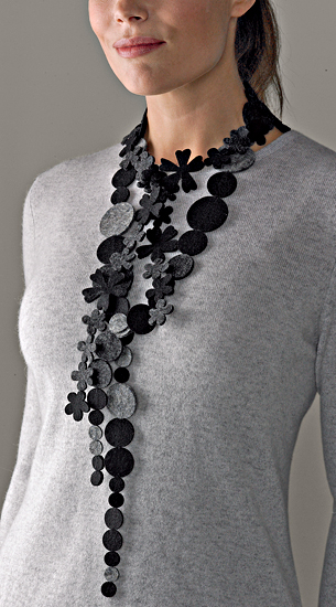 Black and Gray Necklace