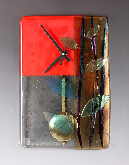 """Red Bamboo"" Pendulum Clock"
