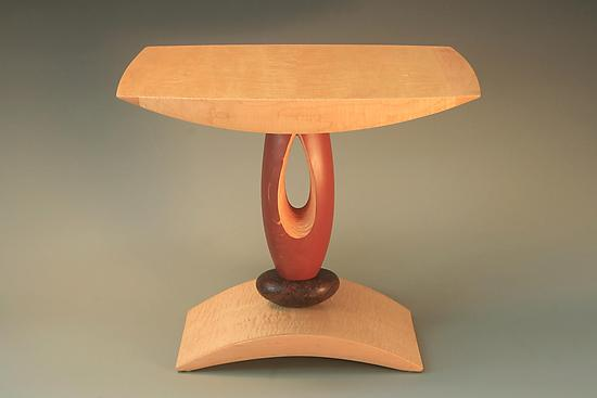Red Teardrop End Table