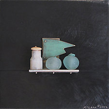 Bronze Still Life 62 by Jack McLean and Alice McLean (Metal Wall Sculpture)