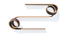 Double Twist Shelf by Kino Guerin (Wood Shelf)