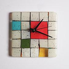 Tribeca: Red by Nina  Cambron (Art Glass Clock)