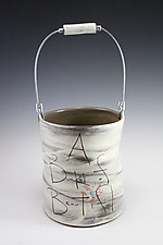 Bucket of Beautiful by Noelle VanHendrick and Eric Hendrick (Ceramic Sculpture)