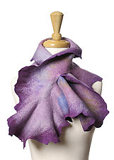 Coral Scarf in Lilac by Jenne Giles  (Silk and Wool Scarf)