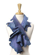 Coral Scarf in Hydrangea by Jenne Giles  (Silk and Wool Scarf)