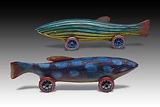 Big Fish by Dona Dalton (Wood Sculpture)