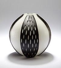 Wheel Cut Series by Christopher Jeffries (Art Glass Vase)