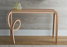 Salto Table by Kino Guerin (Wood Console Table)
