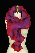 Rose Scarf in Purple and Red by Jenne Giles  ()