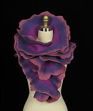 Large Rose Scarf: Purple, Violet, Rose by Jenne Giles  ()