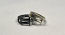 Foldover Rings by Hilary Hachey (Silver Ring)