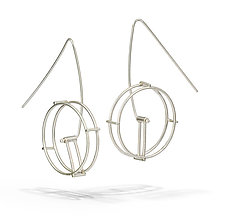 Wheel Earring in Silver by Hilary Hachey (Silver Earrings)