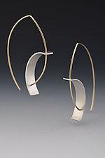 Tension Earrings by Hilary Hachey (Gold & Silver Earrings)