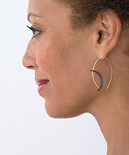 Tension Earrings by Hilary Hachey (Gold & Silver Earrings)