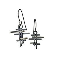 Scaffold Brise Soleil by Hilary Hachey (Silver Earrings)