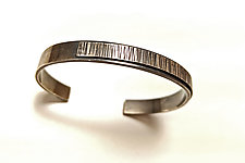 3/4 Hammered Cuff by Hilary Hachey (Silver Bracelet)