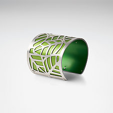 Jungle Leaves Bracelet by Gogo Borgerding (Silver & Aluminum Bracelet)