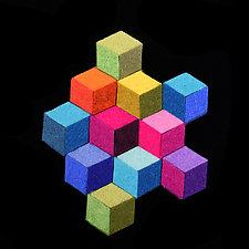 Cubic Brooch by Danielle Gori-Montanelli (Felted Brooch)