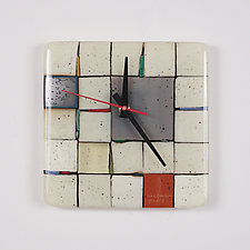 Tribeca: Gray by Nina  Cambron (Art Glass Clock)