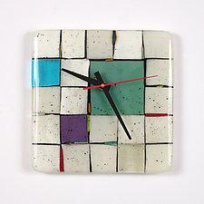 Tribeca: Sage by Nina  Cambron (Art Glass Clock)