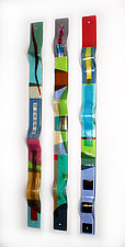 Color Waves by Nina  Cambron (Art Glass Wall Sculpture)