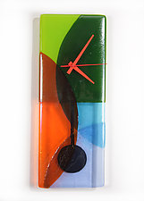 Prism Pendulum Clock by Nina  Cambron (Art Glass Clock)