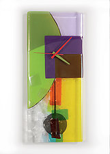 Tumbling Colors by Nina  Cambron (Art Glass Clock)