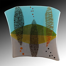 Floating Artifacts by Nina  Cambron (Art Glass Wall Sculpture)