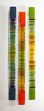 Rhythmic Bands by Nina  Cambron (Art Glass Wall Sculpture)