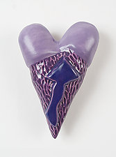 Love Note Hearts by Marilee Hall (Ceramic Wall Sculpture)