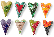 Love Note Hearts by Marilee Hall (Ceramic Wall Art)