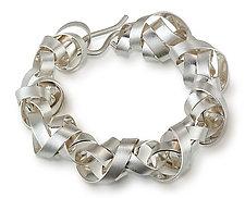 Wide Wrapped Ribbon Bracelet by Rina S. Young (Silver Bracelet)