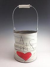 Bucket of Love by Noelle VanHendrick and Eric Hendrick (Ceramic Vessel)