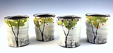 Fruit Trees Mug Set by Noelle VanHendrick and Eric Hendrick (Ceramic Mugs)