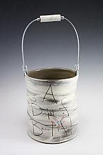 Bucket of Beautiful by Noelle VanHendrick and Eric Hendrick (Ceramic Sculpture)