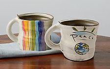 Wheel-Thrown Mugs by Noelle VanHendrick and Eric Hendrick (Ceramic Mug)