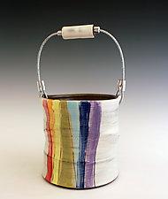 Rainbow Bucket by Noelle VanHendrick and Eric Hendrick (Ceramic Vase)