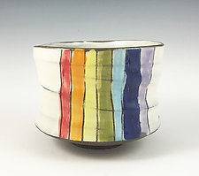 Rainbow Tea Bowl by Noelle VanHendrick and Eric Hendrick (Ceramic Bowl)