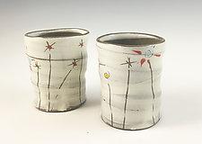 Field Flowers Cups by Noelle VanHendrick and Eric Hendrick (Ceramic Drinkware)