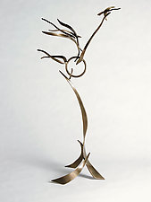 Large Crane Dance by Charles McBride White (Metal Sculpture)