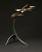 Organics in Motion A by Charles McBride White (Metal Sculpture)