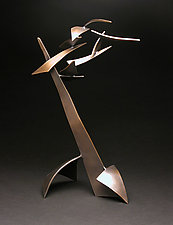 Organics in Motion D by Charles McBride White (Metal Sculpture)