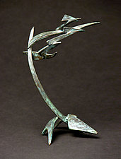 Small Organics in Motion III by Charles McBride White (Metal Sculpture)