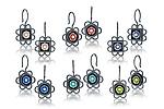 Ornate Black Box Earrings by Giselle Kolb (Silver Earrings)