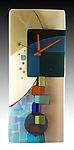 Andrea Fused Glass Pendulum Clock by Nina  Cambron (Art Glass Clock)